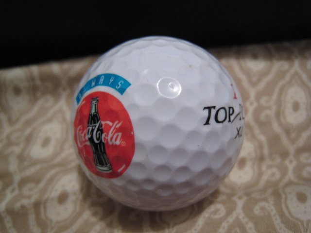 sold - ALWAYS COCA COLA - COLLECTOR'S GOLF BALL SPORTS MEMORABILIA DECORATIVE COLLECTIBLE HOME HOBBY