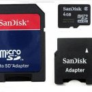 San Disk Micro SD 4GB SDHC TransFlash TF Memory + Mini cell phone accessory