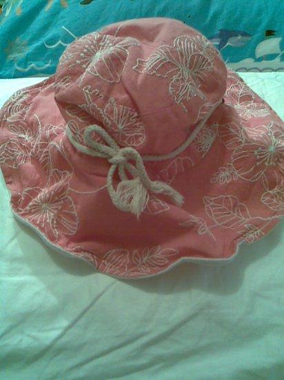SALMON PINK FLOWER WOMEN'S ACCESSORY BEACH SUMMER GARDEN HAT