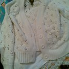 vintage XL EXTRA LARGE WOMEN'S SWEATER CLOTHING TOP CLOTHES KNITTED CREME WHITE
