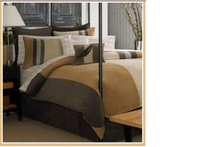 NAUTICA BRODERICK BROWN CORDUROY BEDSKIRT BED SKIRT BEDDING BED SHEET KING HOME DECOR BEDROOM