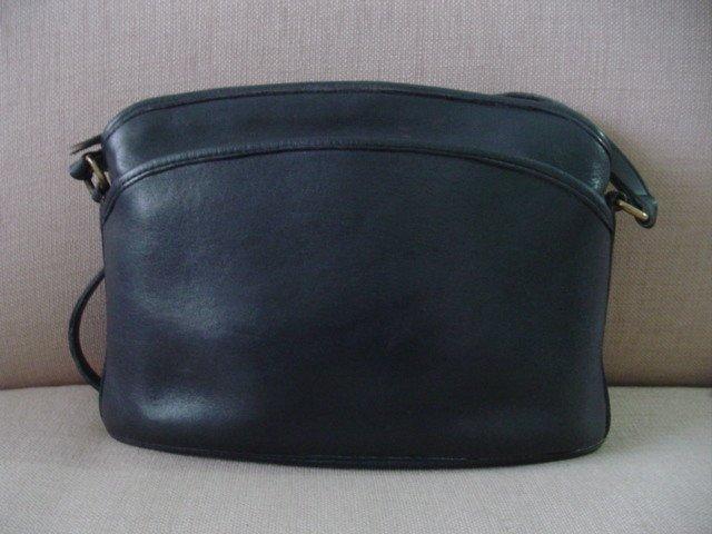AUTHENTIC purse vintage BLACK leather COACH SHOULDER BIG BAG GREAT FOR OFFICE #081409A