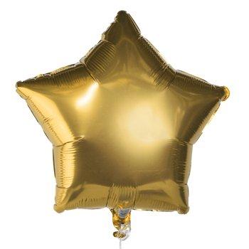 PARTY SUPPLY LOT 50 GOLD STAR FOIL BALLOON BALLOONS FLOWER WEDDING BIRTHDAY