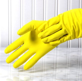 LATEX GLOVES WASHING DISHES HOME KITCHEN SUPPLY LOT 48 pairs GLOVE
