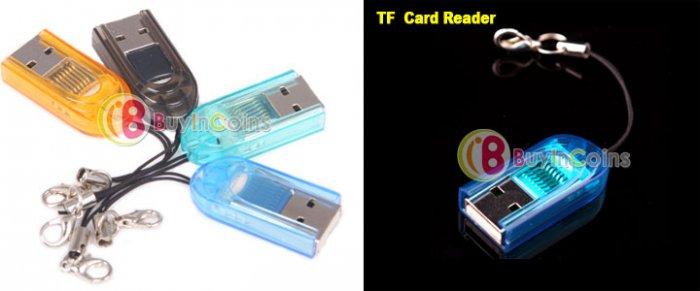 Mini USB 2.0 Micro SD TF Memory Card Reader keychain lot 2 electronic computer camera accessory