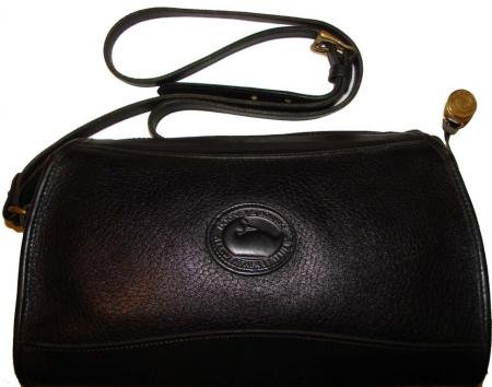 AUTHENTIC vintage BLACK leather DOONEY DOONEY&BOURKE SHOULDER BAG purse #090709A
