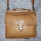 AUTHENTIC vintage WILLIS STATION MESSENGER CAMEL TAN leather COACH SHOULDER BAG purse #092709A