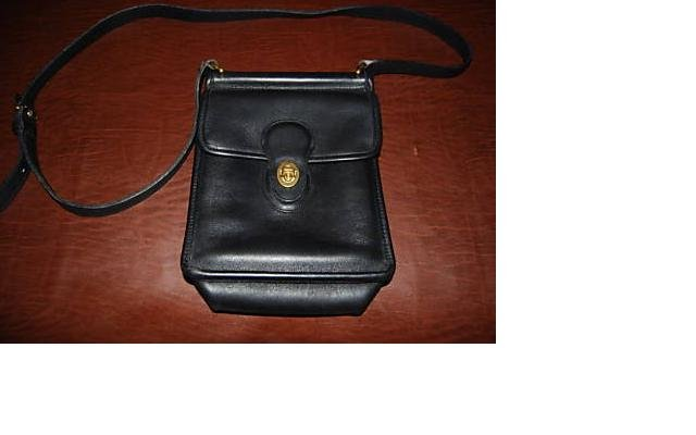 AUTHENTIC vintage murphy lk WILLIS STATION MESSENGER BLACK leather COACH SHOULDER BAG purse #092709B