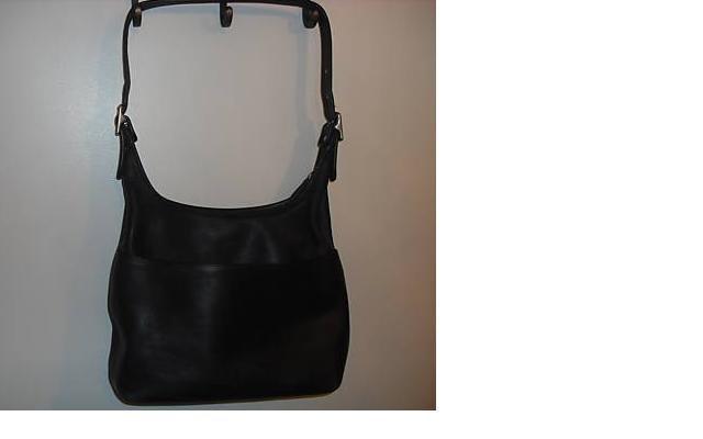 AUTHENTIC vintage JANICE BLACK leather COACH SHOULDER BAG purse #092709C