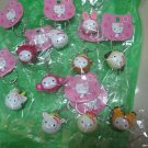 animal HELLO KITTY CHARM PHONE ACCESSORY IPOD key CHAIN NECKLACE knitting markers LOT 5