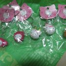 COW HELLO KITTY CHARM PHONE ACCESSORY IPOD key CHAIN NECKLACE knitting crochet stitch markers