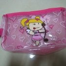 CUPID EXERCISE GYM SPORTS SHAMPOO BAG FASHION WOMEN'S ACCESSORY CASE HANDLE WATERPROOF MESH