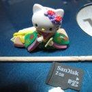 japanese green kimono flower HELLO KITTY CHARM decorative figurine collectible gift doll