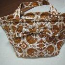 FASHION FABRIC HANDBAG BAG PURSE PATTERN BATIK PAISLEY PRINT ART WOMEN'S BASKET STYLE BOW