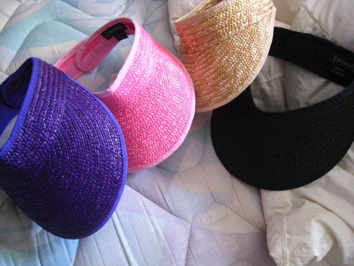 GOLF VISOR CAP HAT pink black tan purple TENNIS CLOTHES ATHLETIC MEN'S WOMEN'S