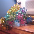 C plastic crystal single flower decorative collectible home garden for your vase