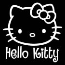 HELLO KITTY writing car decal sticker window house accessory gift fun family home decor
