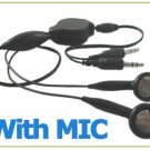 A Retractable Headset Earphone Mic for PC Laptop MP3 iPod portable accessory travel