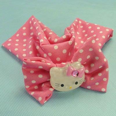 PINK Hello Kitty stretch hair band hairband polca dot diamond girls accessory clothing gift children