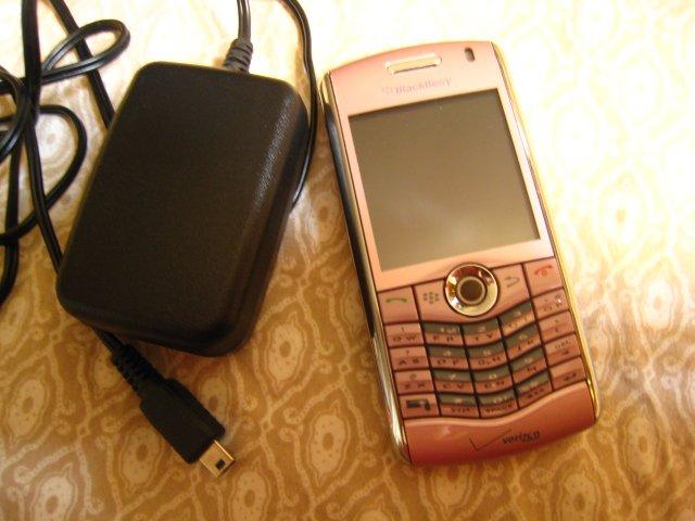 BLACKBERRY PEARL 8130 cdma verizon cell phone PINK teen electronic accessory