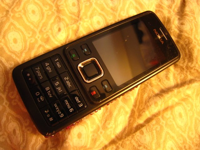 pink diamond back black silver NOKIA 6300 UNLOCK GSM triband cell phone electronic  mp3 sd card
