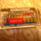A - SAN FRANCISCO cable car PLASTIC CLEAR KEYCHAIN SOUVENIR ACCESSORY COLLECTIBLE DECORATIVE