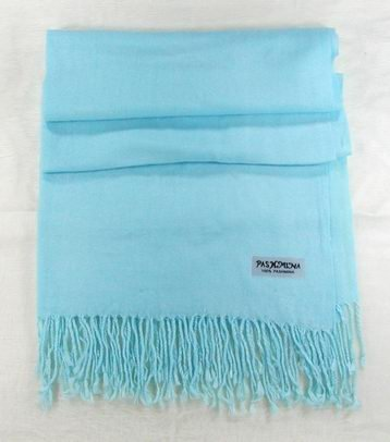aqua blue 100% Pashmina Cashmere Wool Shawl Scarf NEW CLOTHING WOMEN'S MEN'S ACCESSORY FASHION