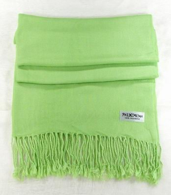 pastel green 100% Pashmina Cashmere Wool Shawl Scarf NEW CLOTHING WOMEN'S MEN'S ACCESSORY FASHION