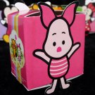L - Cute pink Piglet Party Favor Box ~ Birthday Wedding Candy home decor gift