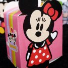 N - Cute pink minnie mouse Party Favor Box ~ Birthday Wedding Candy home decor gift