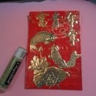 GIFT RED ENVELOPE FUN HOME DECOR WEDDING birthday HOLOGRAM GOLD GOOD LUCK 2 FISH KOI LOTUS FLOWER