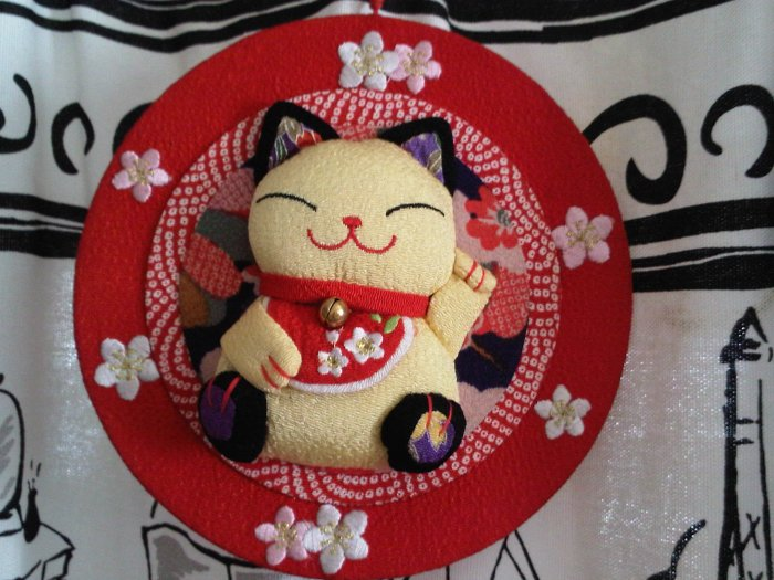 CAT FISH ORNAMENT HANGING RED CHINESE NEW YEAR GOOD LUCK DECOR HOME FAMILY decorative collectible