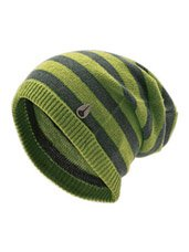 BULA BEANIE SKI CAP HAT WOMEN'S YELLOW STRIPE WOOL ACRYLIC ACCESSORY SKI SNOWBOARD