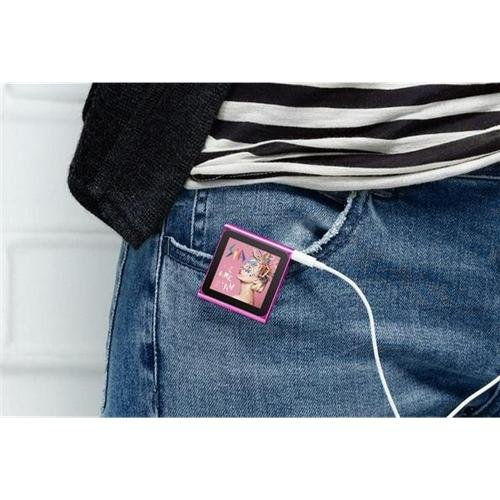 """pink 4GB 6th Gen 1.8"""" LCD TOUCH SCREEN MP3 PLAYER Clip electronic accessory"""