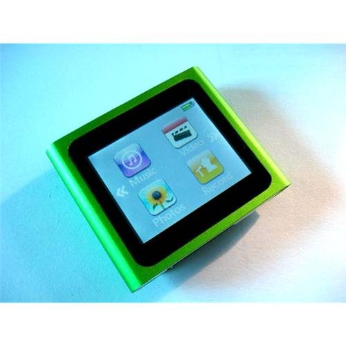 "green 4GB 6th Gen 1.8"" LCD TOUCH SCREEN MP3 PLAYER Clip electronic accessory"