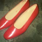 RED EASY SPIRIT PUMPS HEELS DRESS SHOES WOMEN'S 7.5 LEATHER CLOTHES ACCESSORY