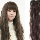 E6105 Light Brown Long Wave Hair Extension Wigs wig fashion costume beauty health home family