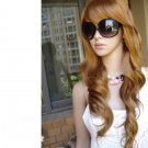 E6093 New Fashion Light Brown Long wave wigs wig fashion costume beauty health home family