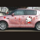 2 A red HELLO KITTY full body car decal sticker window house accessory gift fun family home decor