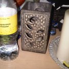 STONE CERAMIC CARVED CANDLE HOLDER HOME DECOR COLLECTIBLE