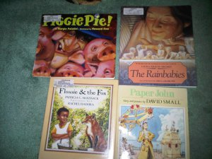 B lot set of 4 book books children's illustrated home activity