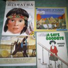 D lot set of 4 book books children's illustrated home activity