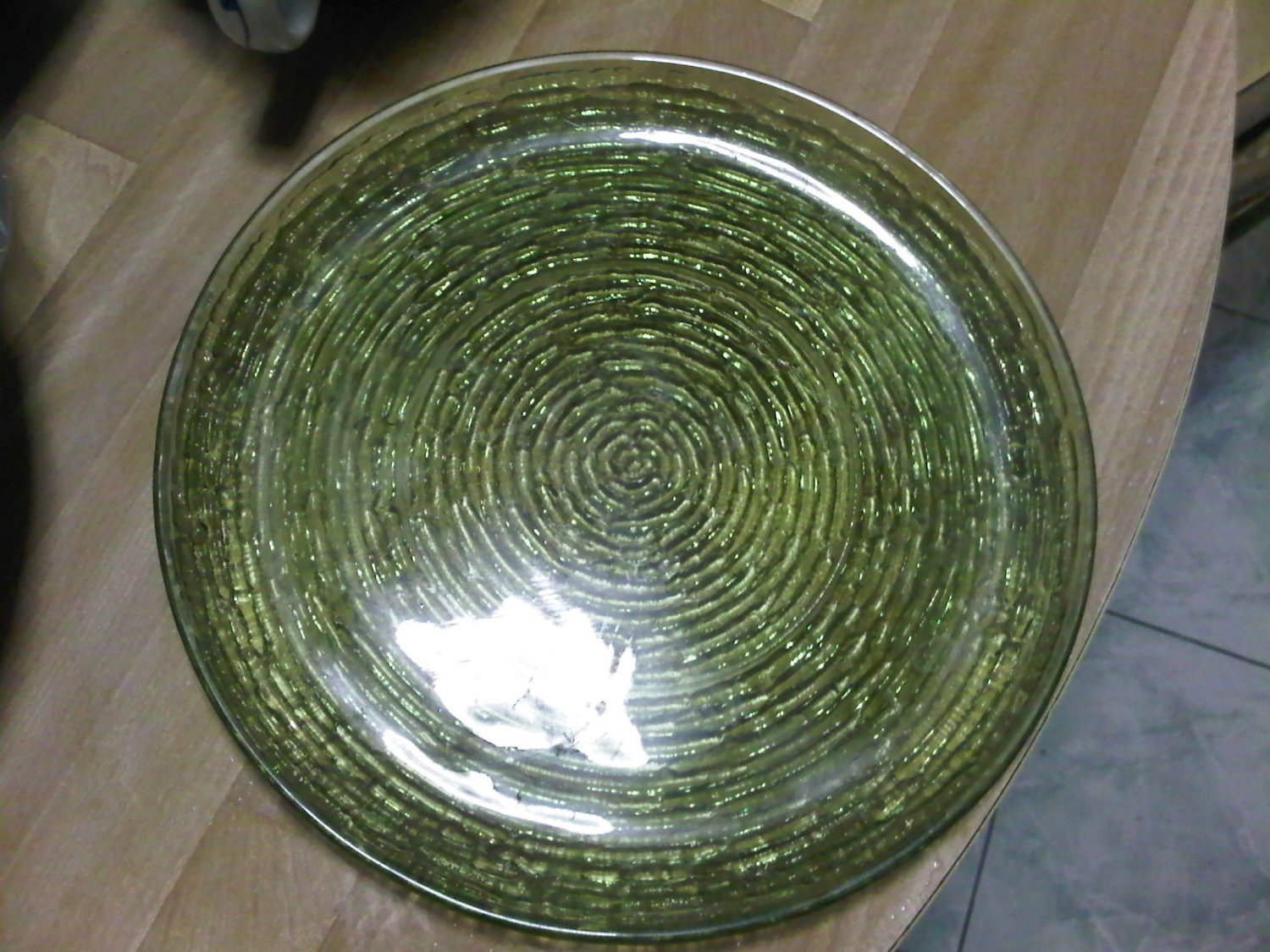lot set 4 GREEN PLATE glass vintage cup glasshome 1950s DECORATIVE COLLECTIBLE KITCHEN