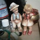VINTAGE DOLL INARCO JAPAN LOT 2 BOY GIRL SWISS PORCELAIN DECORATIVE COLLECTIBLE FIGURINE HOME