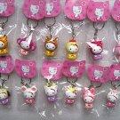 NEW 12 pcs keychain Chinese Zodiac Hello Kitty figure so cute decorative collectible gift lot set