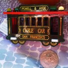 A GREEN SAN FRANCISCO DECORATIVE COLLECTIBLE MAGNET CABLE CAR OFFICE GIFT KITCHEN HOME FAMILY