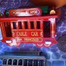 B RED SAN FRANCISCO DECORATIVE COLLECTIBLE MAGNET CABLE CAR OFFICE GIFT KITCHEN HOME FAMILY