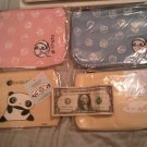 PINK SANRIO JAPAN SAN-X PANDA MAKEUP BAG POUCH ZIPPER BEAUTY HEALTH HOME
