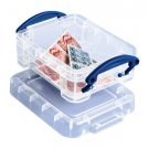 0.07 Liter Really Useful Box Clear mini storage home family collectible plastic case