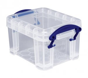 0.14 Liter REALLY USEFUL Box Clear mini storage home family collectible plastic case